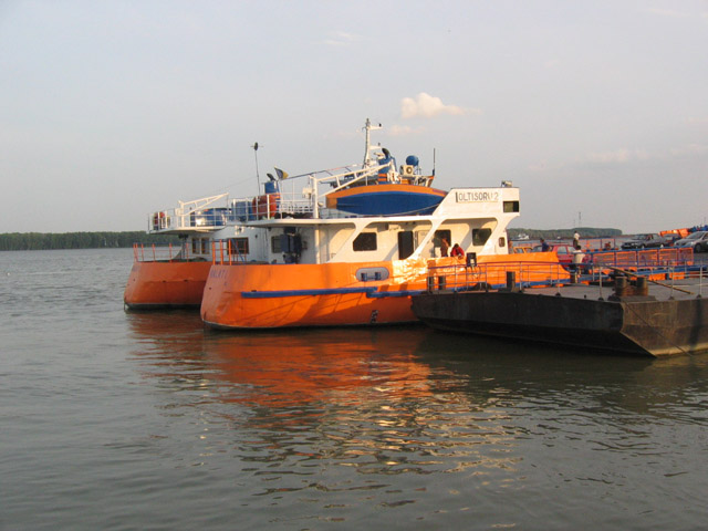 Ferry boath sur Danube