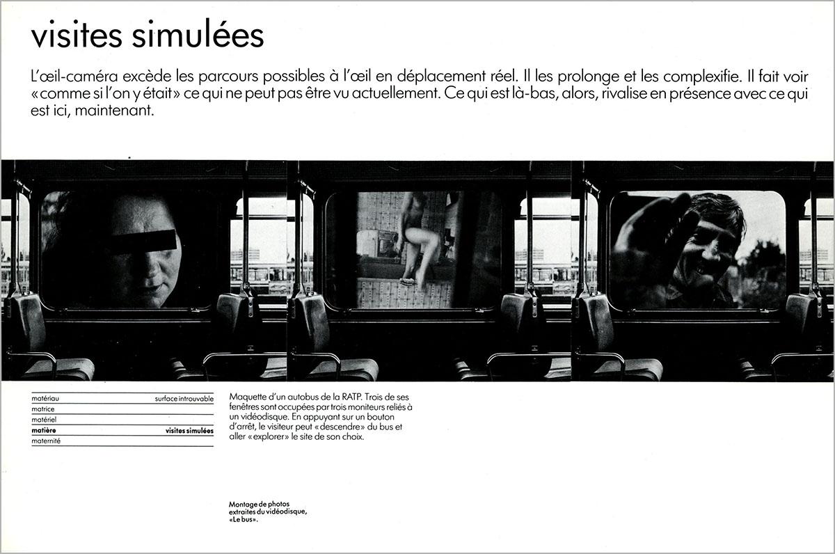 Jean-Louis Boissier, retour sur Les Immatériaux, 30 mars 2005, à propos du Bus, 1984-1985