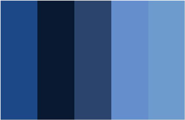Couleurs collect es blog archive s rie couleurs du jour - Gamas de colores azules ...