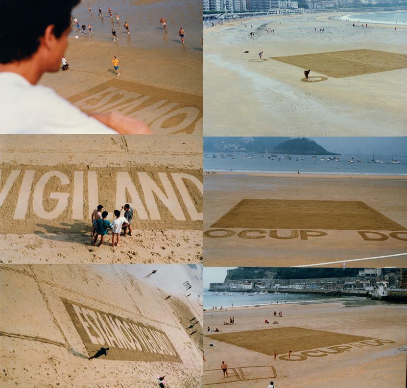 On vous surveille. Action dans la plage de San Sebastián. Grupo Bajamar (1994)