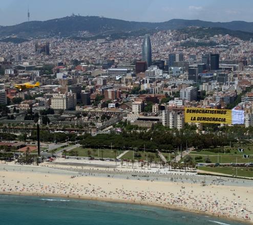 Action dans les plages de Barcelone (2011)