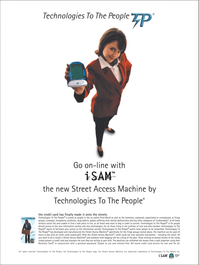 Campagne publicitaire Street Access Machine (1996)