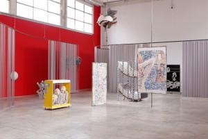 """Vue de l'exposition """"Mo'Swallow"""" de David Douard au Palais de Tokyo"""