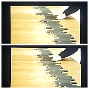 Marie Cool/Fabio Balducci Sans titre, 2011 Crayons de papier noirs, table Documentation vidéo  Couleur, muet, durée 2'11''