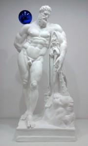 Gazing Ball (Farnese Hercules), 2013, Plâtre et verre