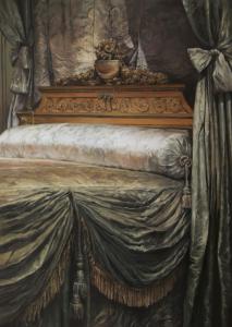Netlon Sentinel, Damien Cadio, 2014 Huile sur bois 100 x 140 cm