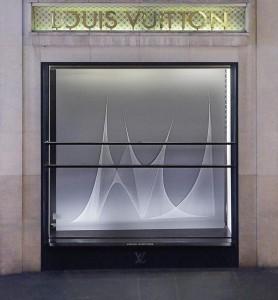 Isa Melsheimer, détail de l'oeuvre Hyperboloïde IV, 2015, fil à coudre, clous, crédits photographiques : Pauline Guyon/Louis Vuitton