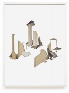 Claire Trotignon, Leurs étais, 2015, collage de gravures, 50x70 cm. © Galerie de Roussan