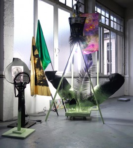 Raphaël Barontini, Saccades, 2014, technique mixte © Raphaël Barontini