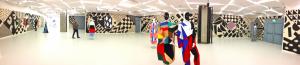 Vue de l'exposition « Arlequine » de Karina Bisch à la Galerie des Galeries, avril 2015, crédits photographiques : Lisa Tietze