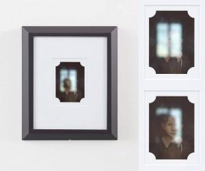 Benjamin Renoux, Face to face (Father and Child), Digital video (9min 02 sec), screen, glass, passe-partout, wood, acrylic, varnish, 36 x 31 x 3 cm, 2015 © Benjamin Renoux