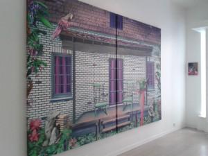 Marion Charlet, Pallas, 2015, acrylique sur toile, 2 x 200 x 150 cm © Valentina Parisio