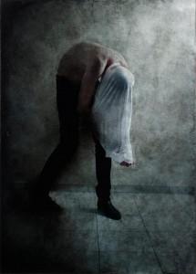 Benjamin Renoux, La mauvaise peau #3, C-print & huile sur toile 194 x 135 cm, 2011 © Benjamin Renoux