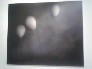 Nicolas Delprat, Entre deux, errance, acrylique sur toile, 150x180 cm, 2015 © Valentina Parisio