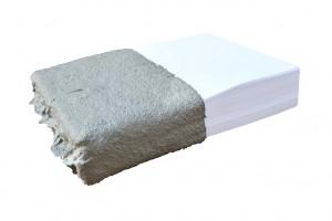 A4 - da série Nóias, Marcelo Cidade, papier sulfite 90g et ciment, 2014 © Tijuana