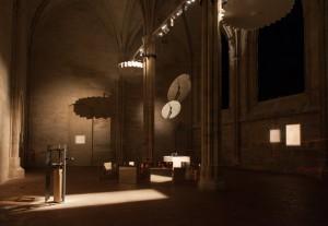 """Vue de l'exposition """"Tout est parti d'une colonne"""" ©Clément Le Penven, 2015"""