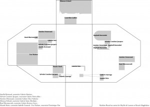 Plan de l'exposition « Outrage » à la Cité Internationale des Arts (Site de Montmartre) © Mathieu Buard
