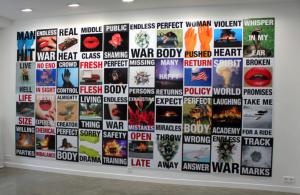 Cali Thornhill Dewitt, Signs, 2015,Vinyl sur plastique ondulé, 61x 46 cm