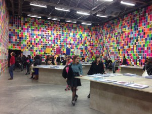 Ugo Rondinone, The archive of John  Giorno, vue d'installation, Palais de Tokyo, 2015 © Julia Gomila