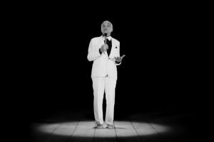 Ugo Rondinone, THANX 4 NOTHING, Installation vidéo (noir et blanc), 14 min. 2015 Courtesy de l'artiste. © Ugo Rondinone