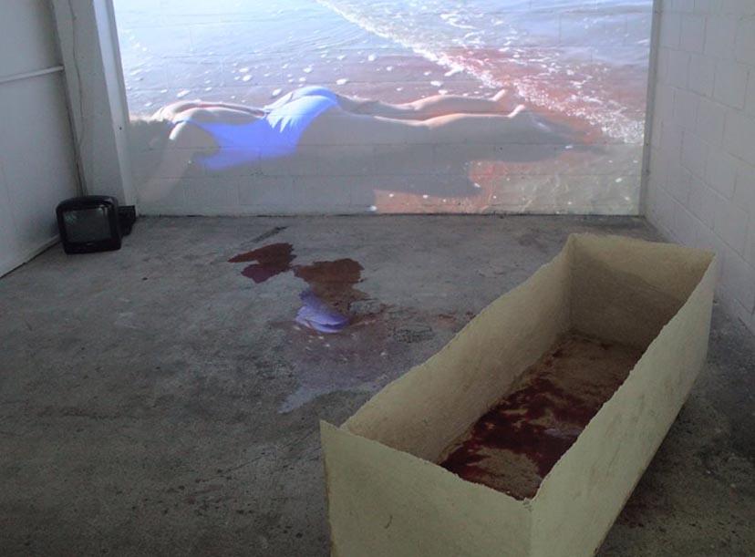 De l'image des morts, Donatienne Berthereau et Cham Lavant, Exposition BURN(OUT), © Sarah Si Ahmed.