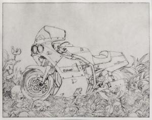Etienne Pottier, Sans-titre, 2015. Gravure sur papier, 26,5 x 34 cm.