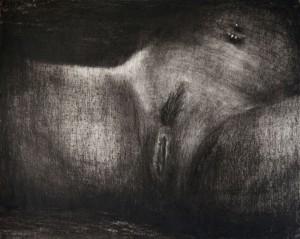 Etienne Pottier, Sans-titre, 2015. Graphite sur papier, 24 x 30 cm.