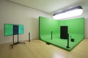 Mark Leckey, Green Screen, mix media, 2015, © courtesy Madre et Mark Leckey