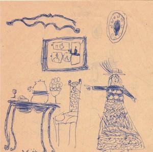 stylo bille sur papier, © courtesy de la galerie Sultana et de l'artiste