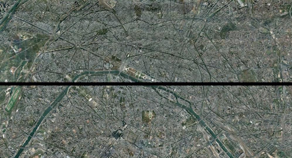 Ligne horizontale qui coupe Paris en deux depuis son centre